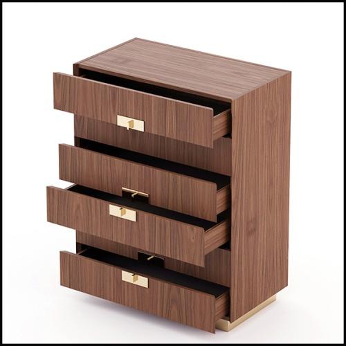 Table d'appoint avec plateau en pierre d'agate véritable et structure en acier inoxydable poli 162-Agate blue