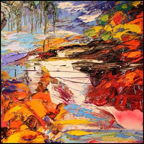 Miroir en fer forgé finition gold antique et avec miroir convex 162-Flower Heart