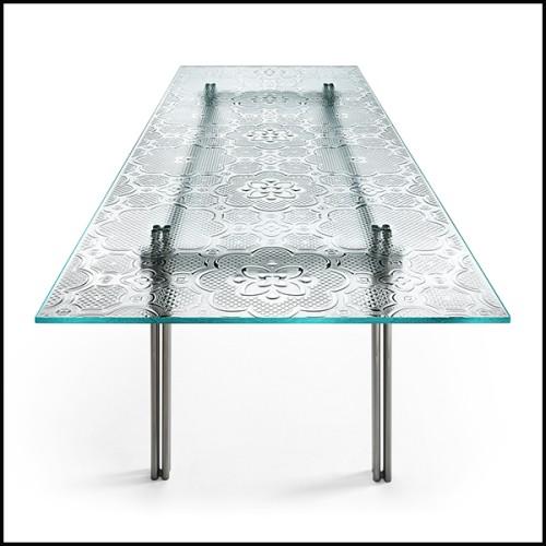 Miroir avec cadre en frêne massif et miroir en verre 163-Panel Large Ash
