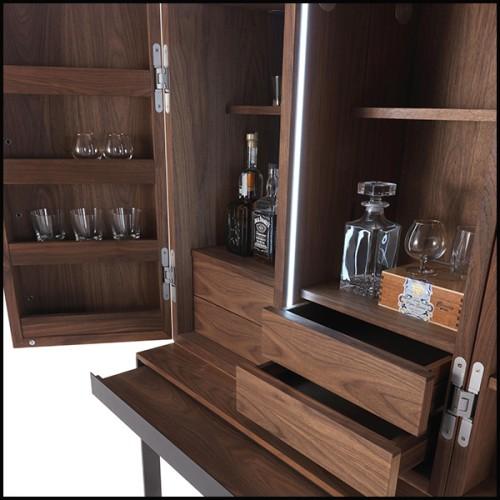 Chaise en fonte d'aluminium poli 30-Polly