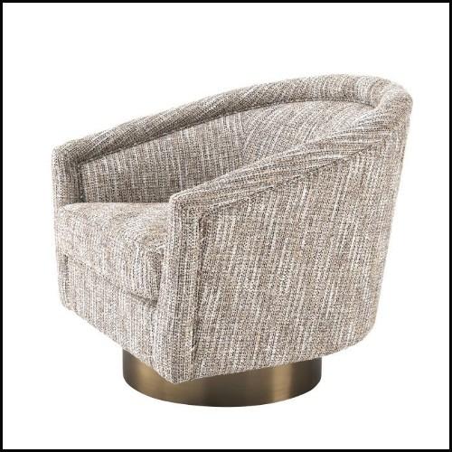 Table d'appoint avec base en fonte finition noir et avec plateau en laiton finition poli brillant 30-Shiny