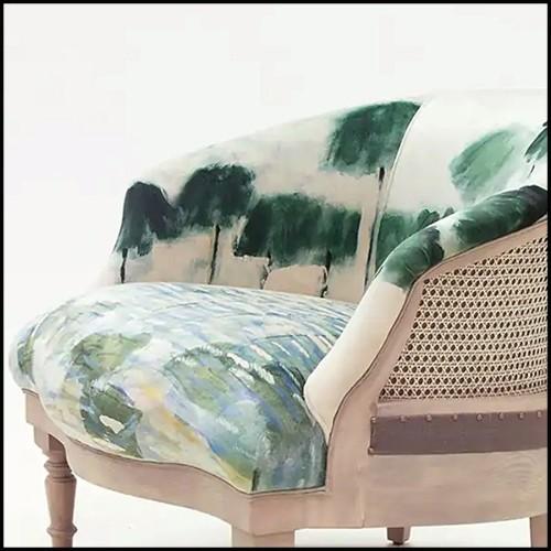 Table d'appoint avec base en bronze et avec plateau en marbre emperador 150-Colisee Bronze