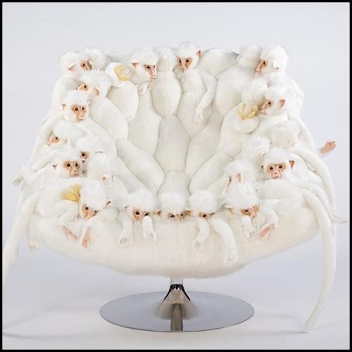 Miroir avec cadre en verre argenté et miroir ovale en verre 146-Silvered Pearl