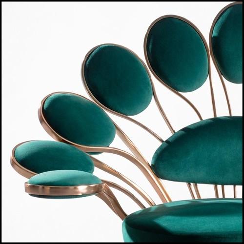Suspension avec cadre en aluminium froissé et poli finition gold 107-Bumpy Gold