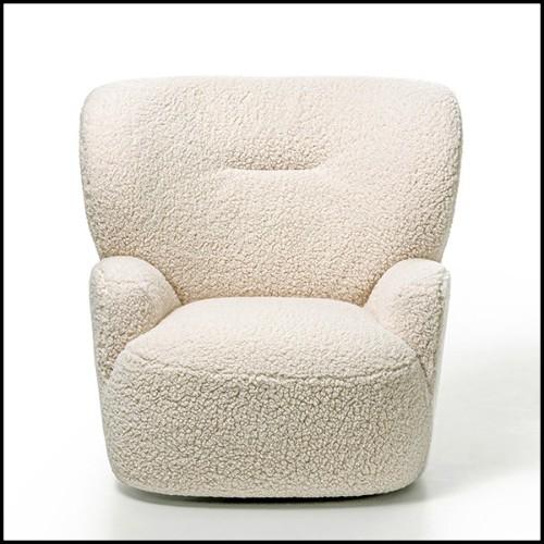 Sculpture en céramique sur base en bois et métal finition black 162-Guepard Speed