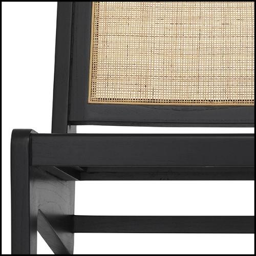 Table d'appoint en acier inoxydable finition cuivre avec plateaux haut et bas en eucalyptus finition mate 174-Xena
