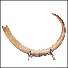 Tusk Mammoth ivory big with beige and dark beige colors PC-Ivory Beige