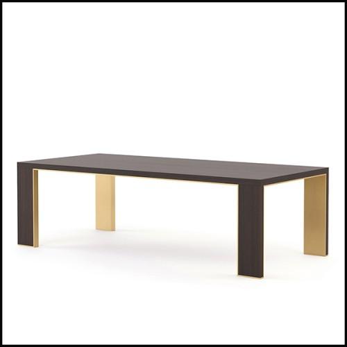 Défense de Mammouth en ivoire avec coloris bruns et bruns foncés et avec légers reflets bleutés PC-Ivory Brown