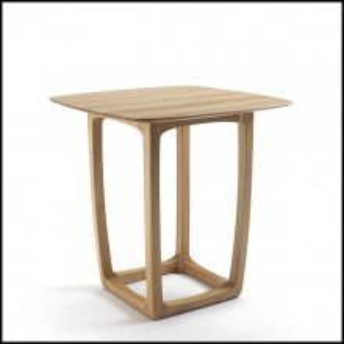 Table haute avec structure en chêne massif et plateau en chêne massif 154-Trooper Oak