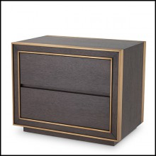 Bedside table or side table in mahogany and maple veneer and oak veneer in brown finish 24-Camelot