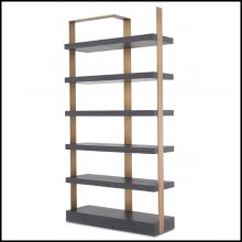 Cabinet with structure in stainless steel in brushed brass finish 24-Geo Brass