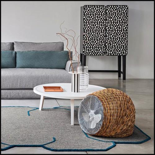 Centre de table plaqué nickel et plaqué or 24 karat avec 2 plateaux 172-Bamboo Gold