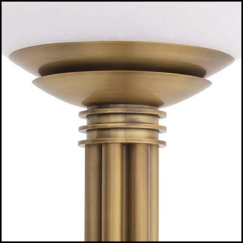 Canapé en bois massif finition cirée et rembourrés et couvert avec tissu en lin blanc cassé 176-Damian