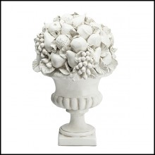 Sculpture all in ceramic with ceramic leaves and fruits 162-Garden Fruits