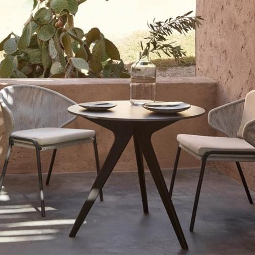 Table de repas en bois d'acajou massif 119-Logical