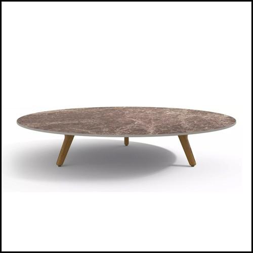 Table d'appoint en bois d'acajou massif avec pieds en acajou massif sculptés à la main 119-Logical