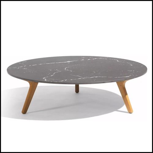Canapé rembourré et recouvert avec cuir nubuck italien haute qualité et contour de la base en bronze massif 150-Powel