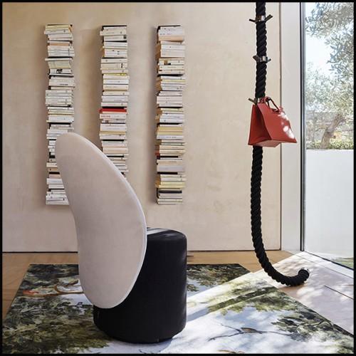 Miroir rond avec structure en laiton massif martelé finition brillant 155-Tide Round
