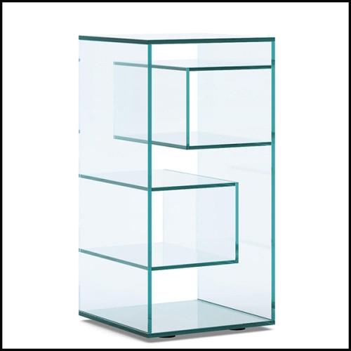 Lampe avec base en acier finition gold avec abat-jour plissé noir 162-Cosma