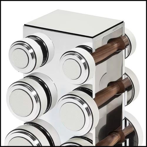 Fauteuil et repose-pieds rembourrés et couverts avec tissu en velours coloris orange fané 155-Theodor Set