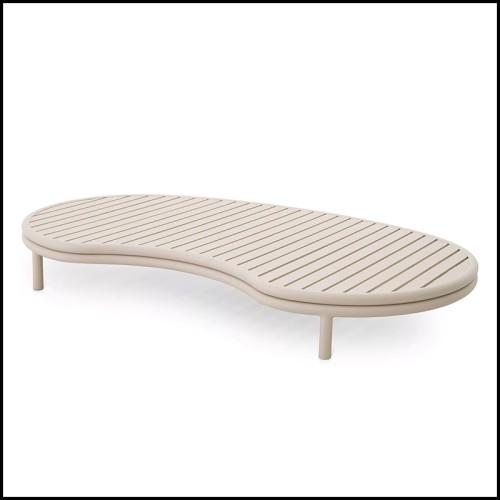 Canapé rembourré et couvert avec tissu en velours coloris orange fané 155-Theodor