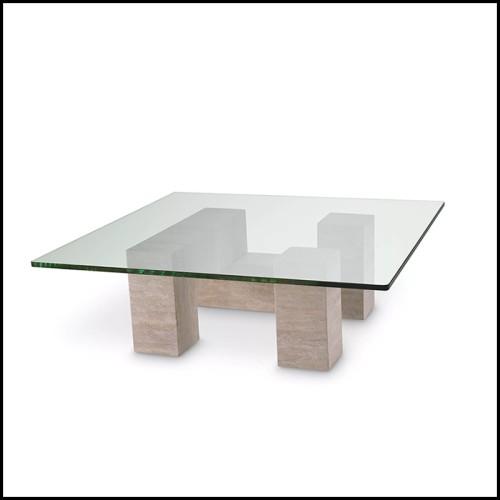 Console avec structure en acier finition gold et avec plateau en marbre blanc 162-Romero Blanc