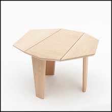 Side table all made with solid oakwood from french sustainable forests 112-Trapezo