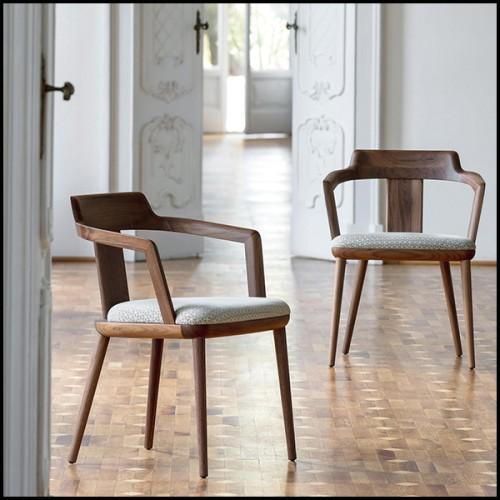 Table d'appoint entièrement composé de chêne massif français 112-Trapezo