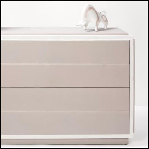 Fauteuil avec côtés gauche et droit en verre clair et assise en cuir blanc véritable 194-Aera