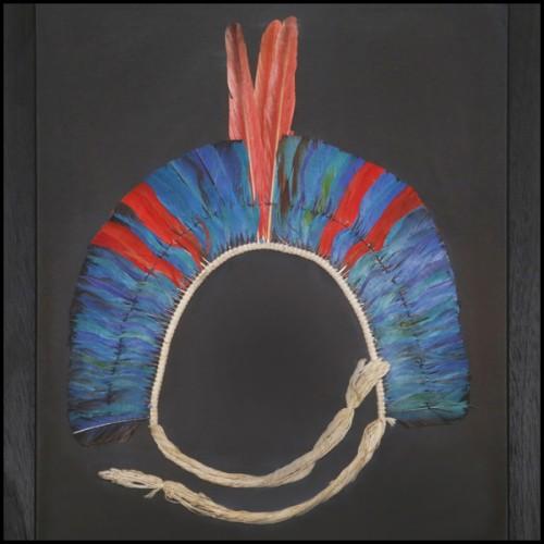 Table basse avec près de 330 papillons sous cadre en plexiglass et plateau en verre PC-Blue Butterflies