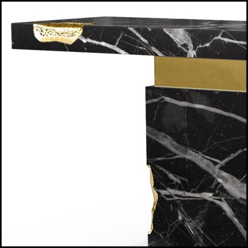 Miroir en verre avec cadre réalisé en joignant le verre avec un effet de lignes en relief 194-Lines on Square