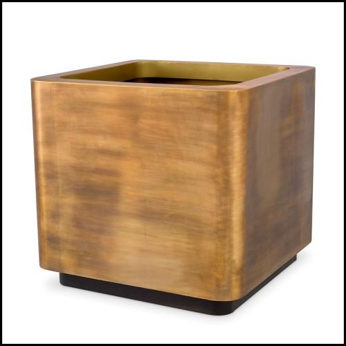Console avec structure en verre extra clair et avec motif de feuilles imprimé sur tissu 194-Green Leaves