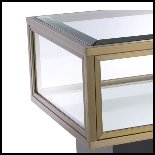 Boîte avec structure en bois peinte à la main avec inserts d'agate naturelle 162-Agate