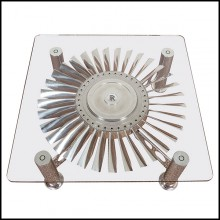 Coffee table with turbine from Rolls-Royce RB.80 Conway engine PC-Turbofan Rolls-Royce