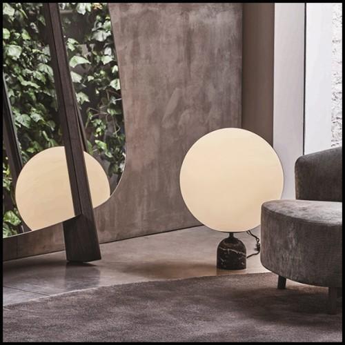 Lampe en laiton et acier inoxydable finition gold avec abats-jours coloris bronze 24-Régina