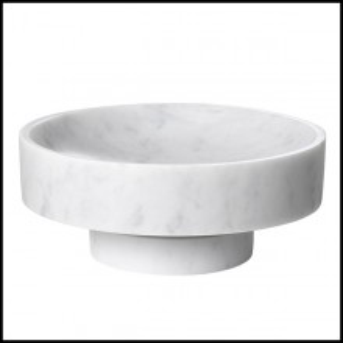 Bol en solide marbre blanc de Carrare 24-Santiago