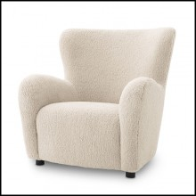 Armchair with wooden structure coverded with brisbane cream fabric 24-Svante L.