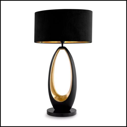 Applique en métal finition laiton antique avec verre claire 24-Gulf L