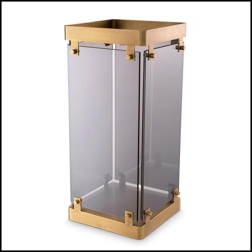 Applique en métal finition nickel avec verre claire 24-Gulf L