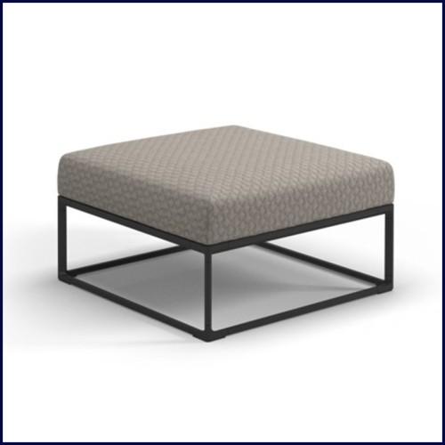 Table basse en acier inoxydable finition laiton brossé avec plateau en céramique 24-Proximity