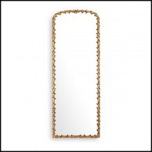 Miroir en acajou finition gold antique 24-Guinevere