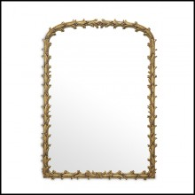Miroir en acajou finition gold antique 24-Guinevere s