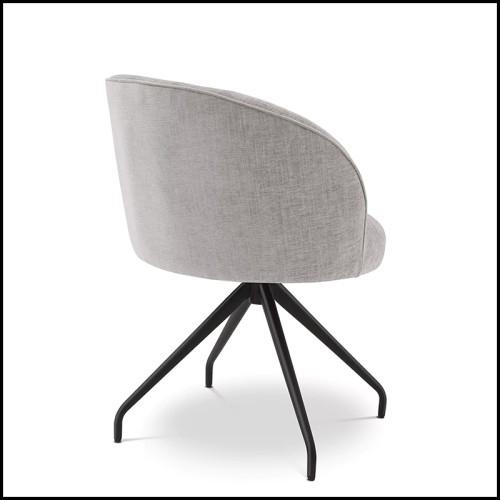 Chaise en chêne et couvert avec nubuck beige 24-Milo High