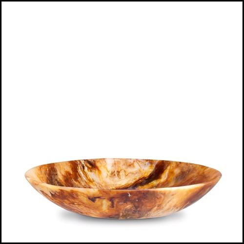 Lampe à poser  finition laiton brossé et verre blanc 24-Pascal