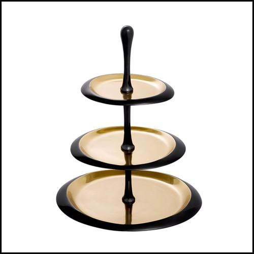 Vase en verre claire avec base et couvert en laiton finition plaqué argent 24-Hayworth