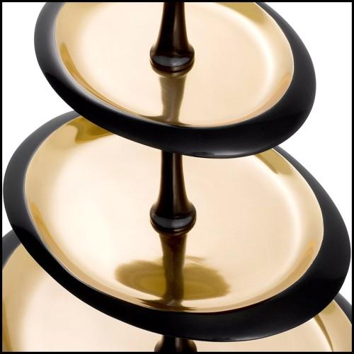 Vase en verre claire avec base et couvert en finition laiton vintage 24-Hayworth