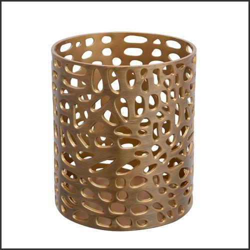Boîte en laiton finition nickel antique 24-Custard Apple