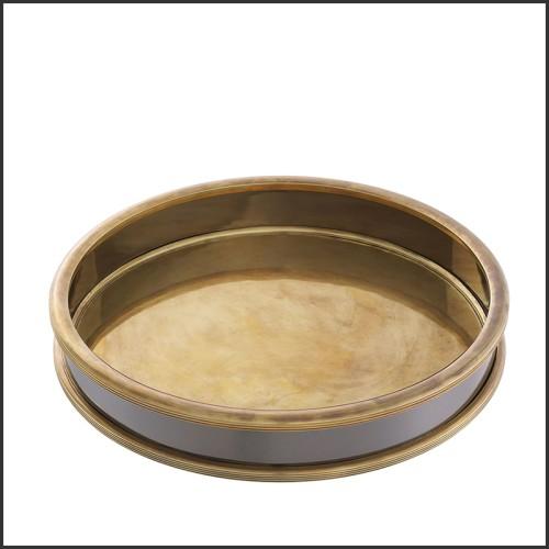 Miroir finition acier inoxydable poli sur verre fumé 24-Quinn