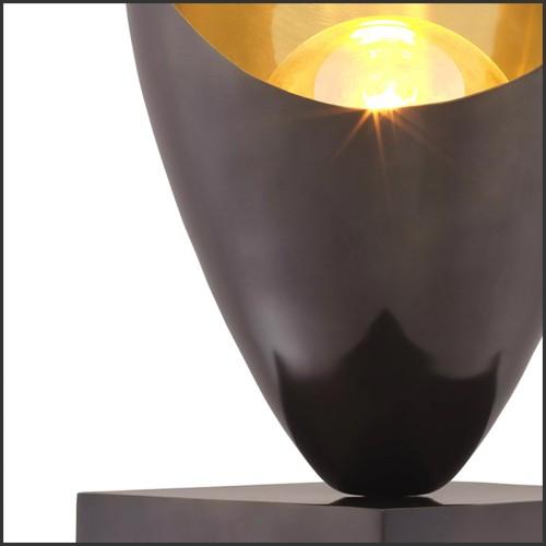 Set de 2 décorations murale imprimés monochromes avec cadre bois noir 24-The Peak