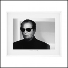 Print of Jack Nicholson's portrait with white wooden frame 24-Jack